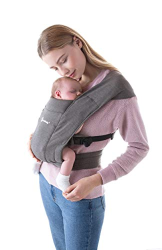 Ergobaby Embrace Baby Wrap Carrier Infant Carrier for Newborns 725 Pounds Heather Grey