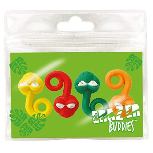 Erazer Buddiez - Serpiente de Deluxebase. Gomas de borrar con forma de serpiente para niños y niñas. Colorido set de borradores de lápiz, ideal para útiles escolares y artículos de oficina