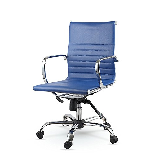 Winport Furniture Conference Task Chair, Blue, Eco Leather Conference Chair