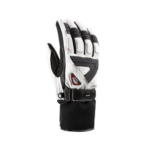 LEKI Men's Glove Griffin S - White/Grey/Black/Motifs 7.0