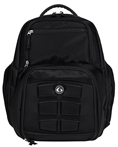 6 Pack Fitness Expedition 300 Backpack W/Removable Meal Management System Stealth (Black/Black)