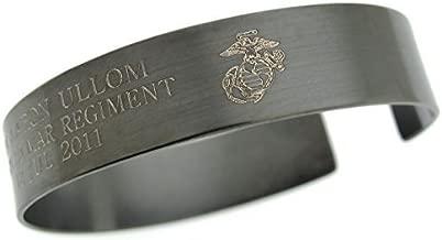 Army Military Gift, Remembrance Bracelet, Veteran Bracelet, US Army gifts, Personalized Military Bracelet, Black Memorial Bracelet for Him, marines graduation gift