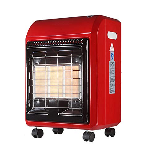 AIOEJP 4200W LPG Cabinet Gas Heater, Outdoor Heaters for Patio Propane Calor Gas Heaters Portable Wheels Infrared Space Heater Safety Protection