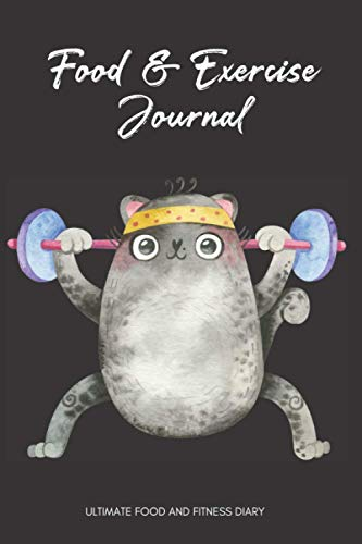 Food And Exercise Journal: Funny Cat Themed Cover 120-Day...