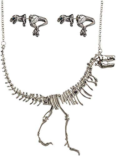 COLORFUL BLING Jane Stone Dinosaur Vintage Necklace Short Collar Fashion Costume Jewelry for Women Teens-Silver