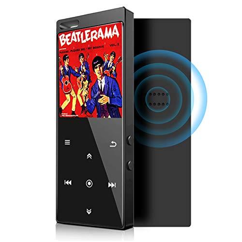16GB Lettore MP3, Bluetooth 4.2, Altoparlanti Integrati, Lettore Musicale, Digitale Portatile con Radio FM, Lettura Foto, E-book.Espandibile Fino a 64GB (Auricolari, Fascia da Braccio Inclusi)