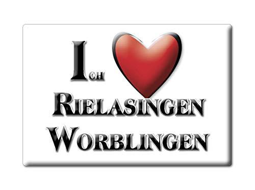 Enjoymagnets RIELASINGEN WORBLINGEN (BW) Souvenir Deutschland Baden WÜRTTEMBERG Fridge Magnet KÜHLSCHRANK Magnet ICH Liebe I Love