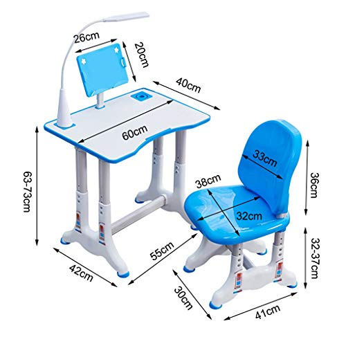 Children's multifunctional writing desk can be raised and lowered plastic study table and chair set with bookshelf, movable folding laptop desk, standing computer student dormitory lazy bed desk