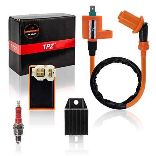 1PZ OC4-R07 Ignition Coil Regulator Rectifier Spark Plug AC CDI for Tomberlin Crossfire 150R Spiderbox 150cc Go karts Parts GY6 150cc Engine Scooter Moped Hammerhead GTS American Sportworks 150