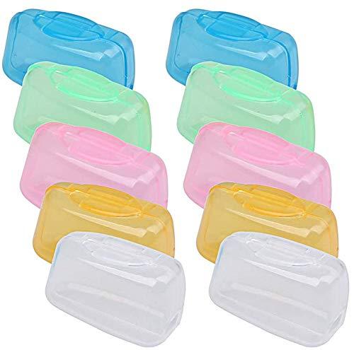 SunEast, 10 unidades de fundas protectoras para cabezales de cepillo de dientes...