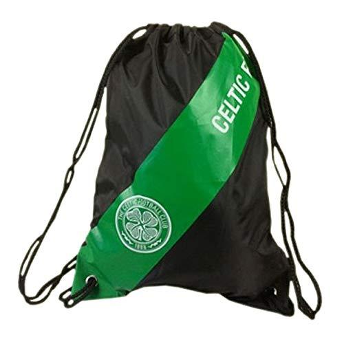 Celtic FC Official Soccer Gym Bag (One Size) (Black/Green)