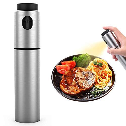 SUKILIU Aluminiumflaschen Öl Sprayer, 100ML Olivenöl Sprayer für Kochen, BBQ, Wok, Salat Dressing Dispenser, Easy mit der Reinigung von Aluminum Food Grade Oil Sprayer 2 Pack