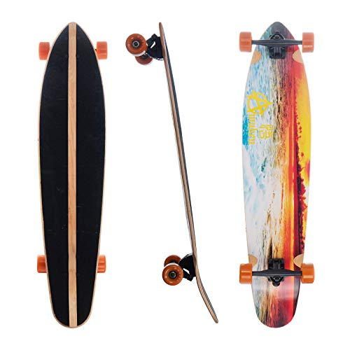 Awaken 42 x 9,5 Zoll Kick Tail Longboard Cruiser für Freeride Downhill und Cruise - Beach