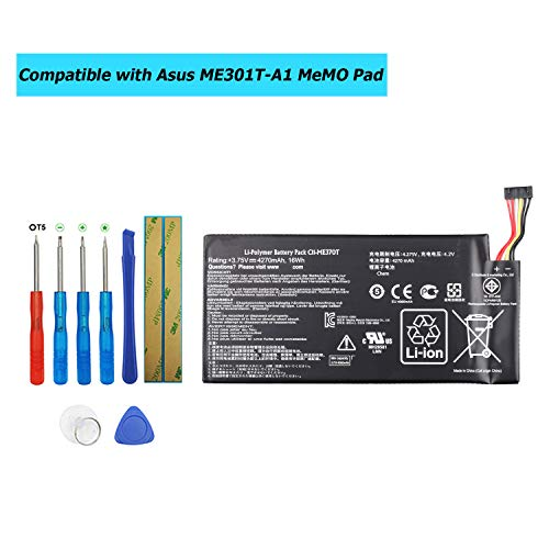 """E-YIIVIIL C11-ME370T Replacement Battery Compatible with Asus ME301T-A1 ME370T MeMO Pad ME301T Google Nexus 7/Nexus 7"""" with Toolkit"""