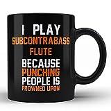 N\A Toco la Flauta subcontrabajo Mejor Taza de café con Leche de Hom Cita Divertida del Sarcasmo para flautistas/compositores/músicos de subcontrabajo JD0PIP