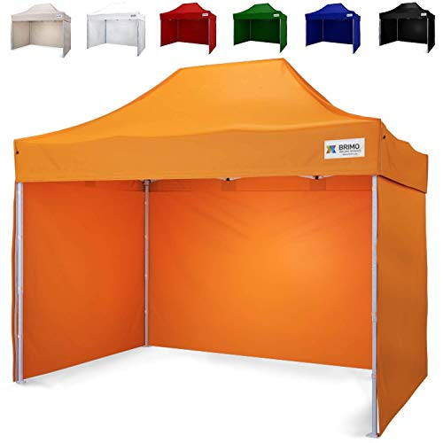 Partyzelt mit 3 Wänden mit Schutzhülse BRIMO Super Stahl (2x3m, Orange)