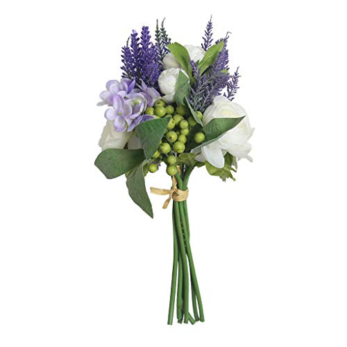 Hunpta @ Künstliche Blumen Rose Hortensie Hochzeitsdeko Blumenstrauß Kunstblumen Blumenarrangement für Haus Büro Balkon Garten Hochzeit Party Valentinstag Dekoration