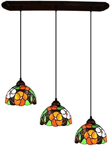 Lámparas Colgantes De La Vendimia De Tiffany Lámpara De Araña, Vidrieras Enciende Luces De La Habitación 3 Dormitorio Cocina Suspendida