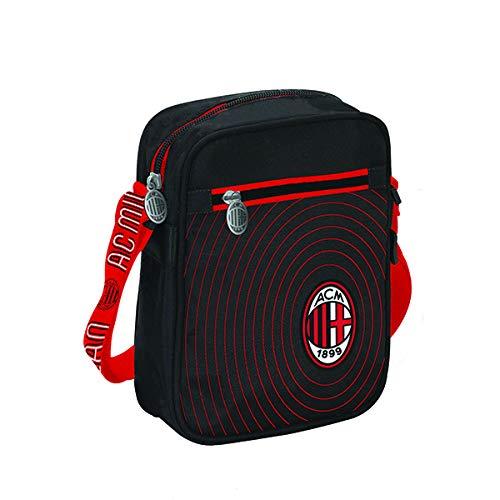 Bolsa bandolera AC Milan Fútbol bolso con bandolera Shouder bag med. 22x15...