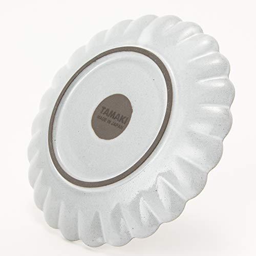 TAMAKI プレート フローレ ホワイト 直径15×高さ1.5cm 電子レンジ・食洗機対応 日本製 T-884218