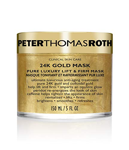 Peter Thomas Roth  Peter Thomas Roth 24K Gold Pure Luxury Lift and Firm Mask, 5 Ounce Tapones para los oídos 2 Centimeters Negro (Black)