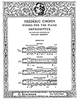 G. Schirmer Frederic Chopin: Impromptus (Joseffy). Partituras para Piano