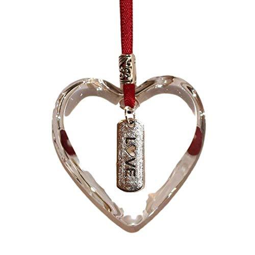 Love Glass Hanging Heart Keepsake Gift