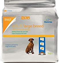 Kannis Adult Chicken & Rice Dry Dog Food for Large Breeds 1 Kg (Chicken, 19.2 x 9.2 x 30.0 cm)