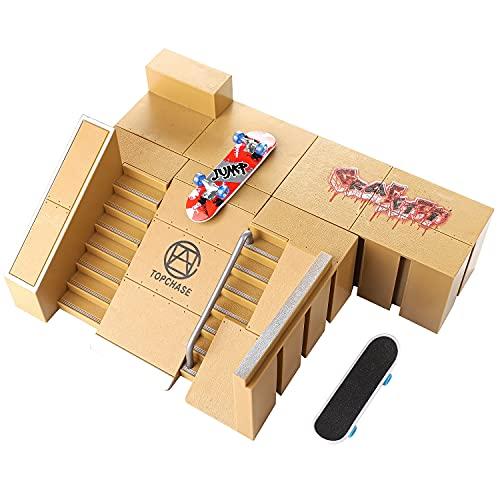 Finger Skateboard Ramp Skate Park Kit - 5 Fingerboard Decks 2...