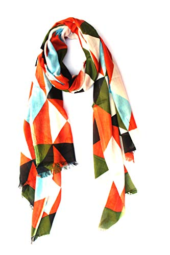 bratkrok Women's Floral Printed Rayon Scarf/Scarves/Stole For Summers (Multi Shapes)