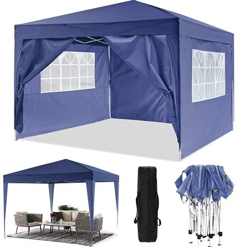 Oppikle Pavillon Faltpavillon 3x3m/3x6m Wasserdicht Faltbare Gartenpavillon Festival Sonnenschutz Faltpavillon, UV-Schutz mit 4 Seitenteilen für Garten/Party/Hochzeit/Picknick