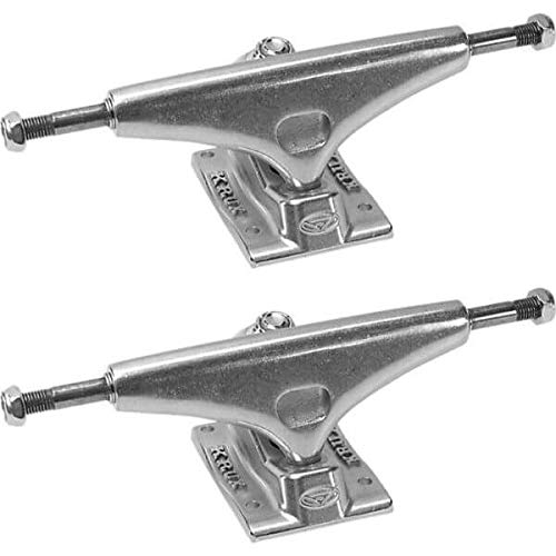 Krux Trucks K4 5.0' Silver Skateboard Trucks - 7.6' Axle (Set of 2)