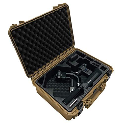 Maleta de Transporte Premium para el dji Ronin-S Gimbal - Exclusivo con Ejes balanceados y cámara montada Lista para filmar, IP67 a Prueba de Agua - Fabricado en Alemania (dji Ronin-S, Sahara/Negro)