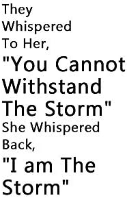 Home Find Mirror I am The Storm Wall Decals Quotes Inspirational Motivation Signs Wall Stickers product image