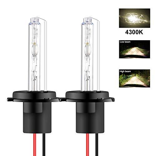 Chemini 2PCS H7 Ampoules au xénon HID 4300K Ampoules de phare au xénon HID de remplacement Utilisé Pour Les Feux de Route et les Feux de Croisement de Voiture