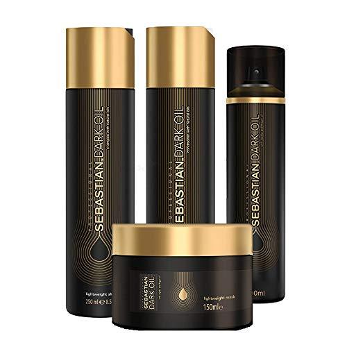 Kit Shampoo Condicionador Máscara E Condicionador á Seco Sebastian Professional Dark Oil