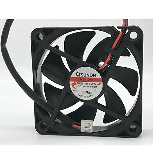 ME60151V3-D02C-A99 6015 12V 0.9W 6CM Magnetic Suspension Cooling Fan
