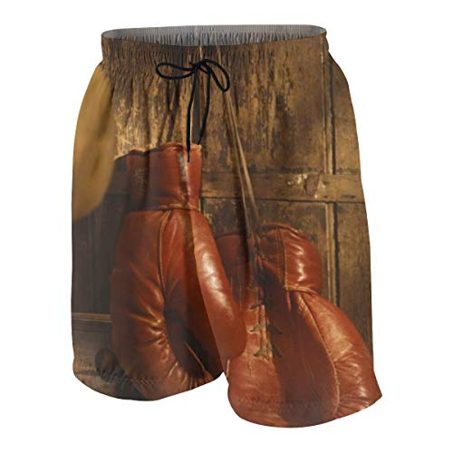 okstore1988 Men'sBeach Shorts Boxing Gloves SwimTrunks 4XL