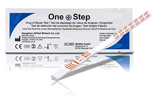 5 x One+Step Drogenschnelltest I Urintestreifen I Drogentest I Schnelltest zur Bestimmung -