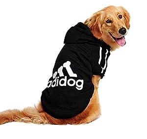 Lovelegis Costume Sweat - T-Shirt - Noir - Capuche - Adidog - Chien et Chat - Idée Cadeau pour Noël et Anniversaire