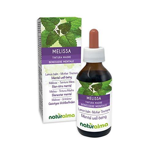Melisse oder Zitronenmelisse (Melissa officinalis) Blätter Alkoholfreier Urtinktur Naturalma | Flüssig-Extrakt Tropfen 100 ml | Nahrungsergänzungsmittel | Veganer