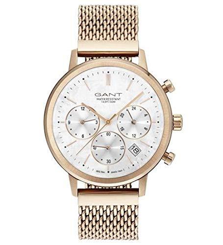 Gant Damen Analog Quarz Uhr mit Edelstahl Armband 7.63004E+12