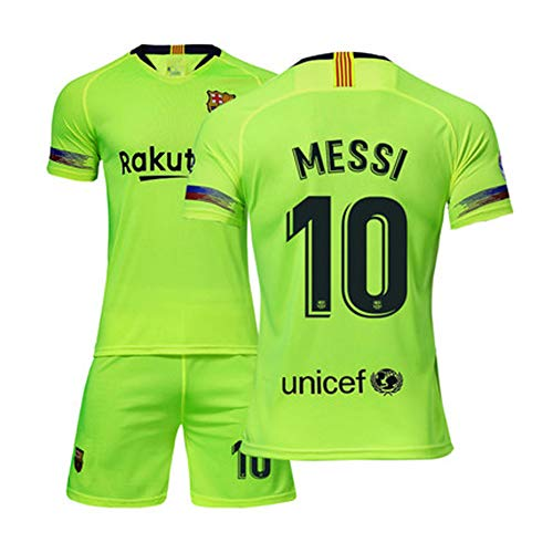 Heren voetbal tricot voetbal uniform - # 10 Lionel Messi Barcelona shirt, alle maten kinderen volwassenen sport voetbal kleding pak 5-4XS