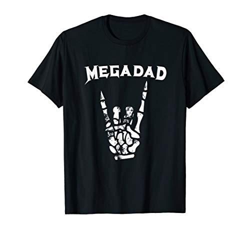Megadad T-Shirt Rock Heavy Metal Guitar Dad Tee
