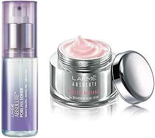 Lakmé Absolute Perfect Radiance Skin Lightening Night Creme, 50g & Lakmé Absolute Pore Fix Toner, 60ml