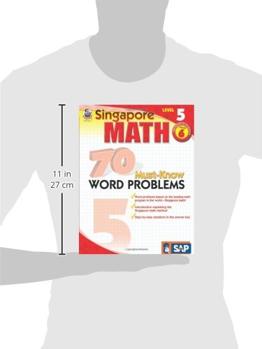 Singapore Math – 70 Must-Know Word Problems Workbook for 6th Grade Math, Paperback, Ages 11–12 with Answer Key