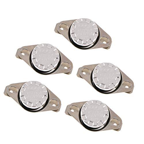 Almencla 5x 250V KSD301 Thermostat Schließer Thermoschalter 40 65 Celsius - Silber 60 ℃