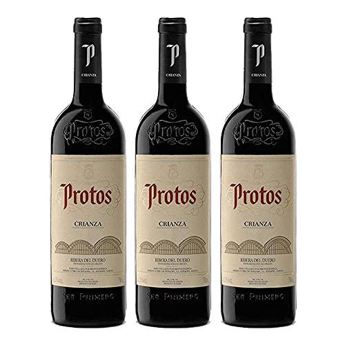 Vino Tinto Protos Crianza de 37.5 cl - D.O. Ribera del Duero - Bodegas Protos (Pack de 3 botellas)