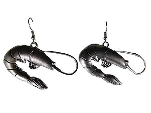 Ohrringe Ohrhänger Hänger Garnele Aquarium Zwerggarnele Wasser Meer 10.126