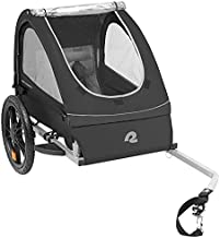 Retrospec Rover Kids Bicycle Trailer - Single & Double Passenger Children's Foldable/Collapsible Tow Behind Bike Trailer with 16